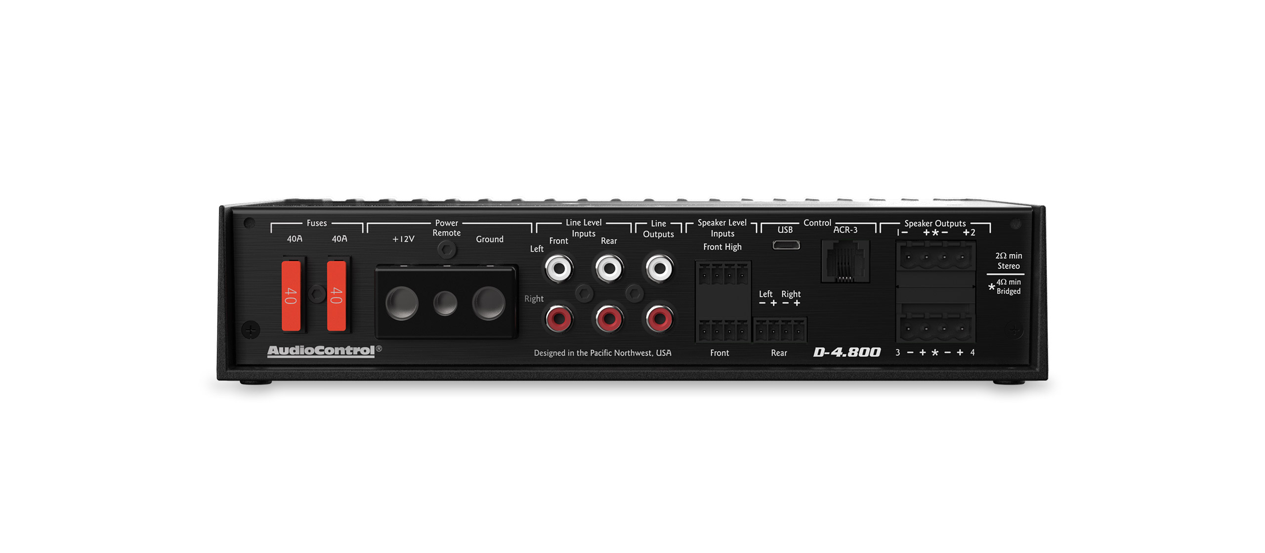 Audio Control Pro Ice 3 W Class D Amplifier With Smart Gain 4800 Front